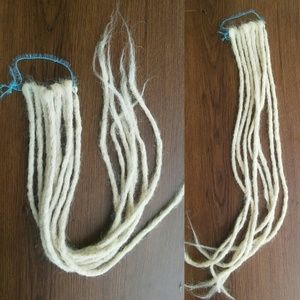 Long handmade blonde plain crochet dreadlocks